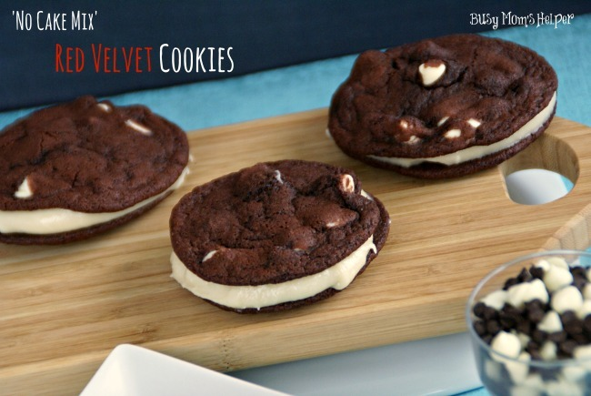 No Cake Mix Red Velvet Cookies / Busy Mom's Helper