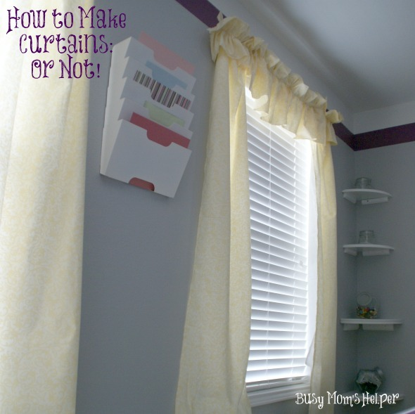 How to Make Curtains: Or Not! / by www.BusyMomsHelper.com #curtains #tutorial #diycurtains #craftfail
