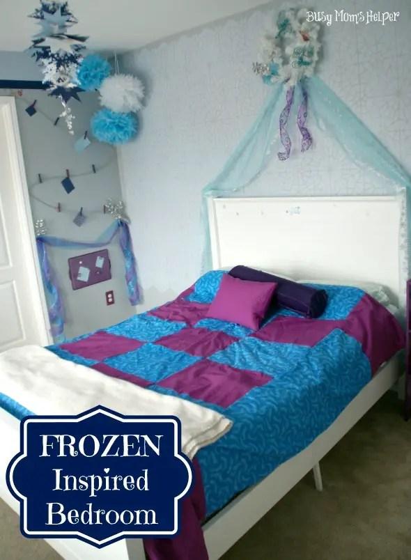 FROZEN Inspired Bedroom / by www.BusyMomsHelper #Frozen #bedroom #girlsbedroom #remodel #Disney