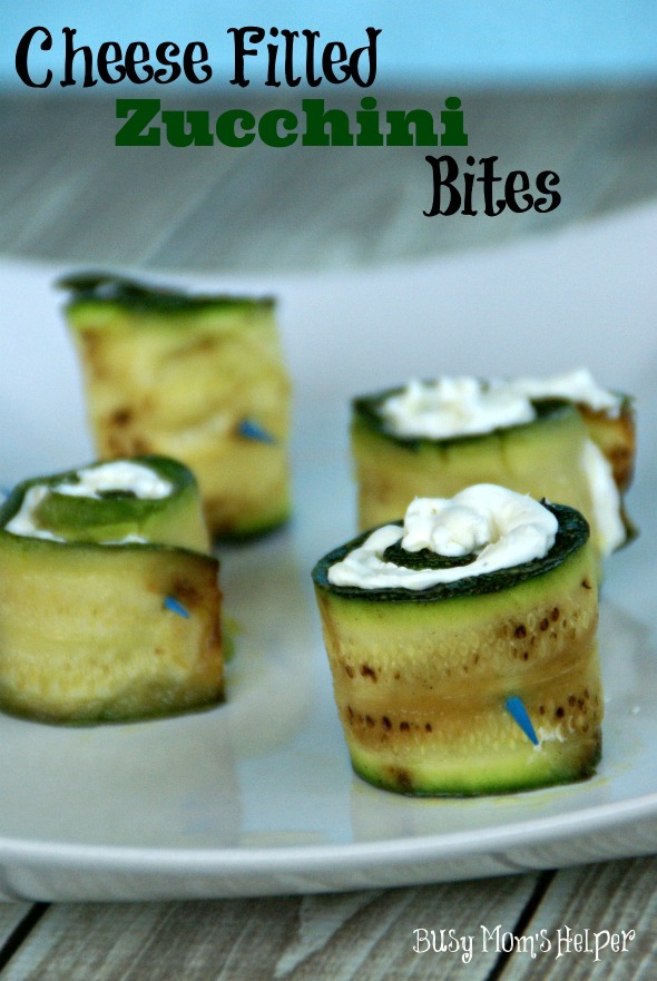 Cheese Filled Zucchini Bites / by www.BusyMomsHelper.com #Zucchini #Veggies #Appetizer #CheeseFilled
