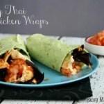 Spicy Thai Chicken Wraps / by www.BusyMomsHelper.com #chickenwrap #spicychicken
