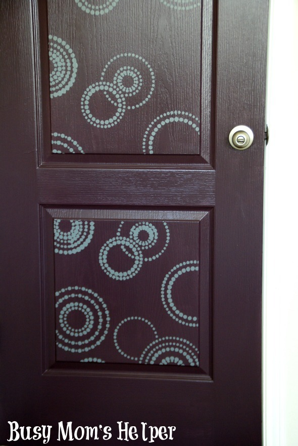 Door Makeover with Modern Masters / by Busy Mom's Helper #remodel #doorpaint #roommakeover #stenciling