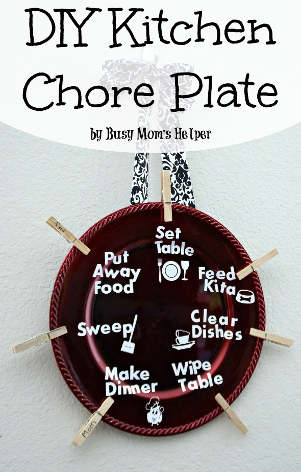 DIY Kitchen Chore Plate / by Busy Mom's Helper #chores #familychorechart #kitchenjobs