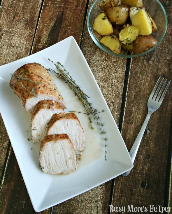 Hubby's Favorite Marinated Pork Loin with Seasoned Potatoes / by Busy Mom's Helper #PutPorkontheMenu #pmedia #ad #recipe