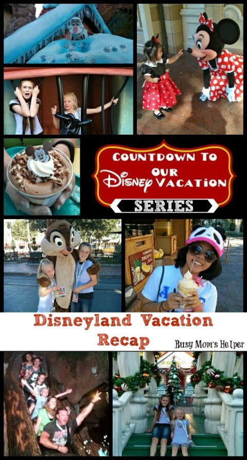 Disneyland Vacation Recap / by Busy Mom's Helper #Disneyland #Vacation