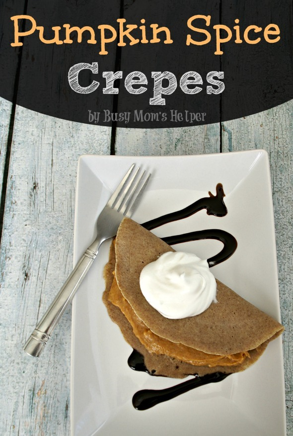 Pumpkin Spice Crepes / by Busy Mom's Helper #pumpkin #breakfast #dessert