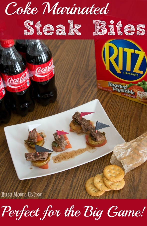 Coke Marinated Steak Bites / by Busy Mom's Helper #PrepareToParty #Ad #steak #BigGame