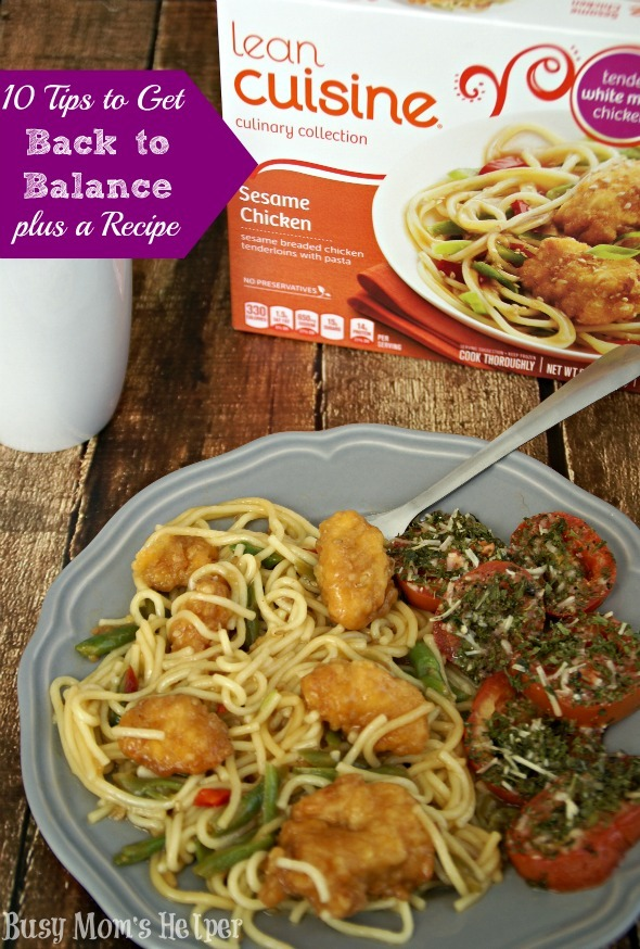 10 Tips to Get Back to Balance plus a Recipe / by Busy Mom's Helper #BacktoBalance #CollectiveBias #Ad