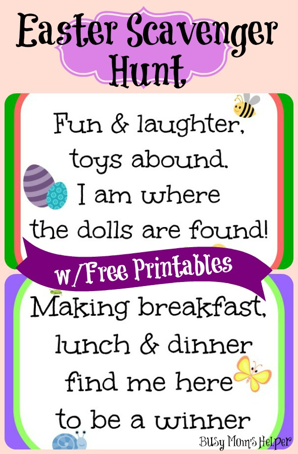 Easter Scavenger Hunt with Free Printables / by Busy Mom's Helper