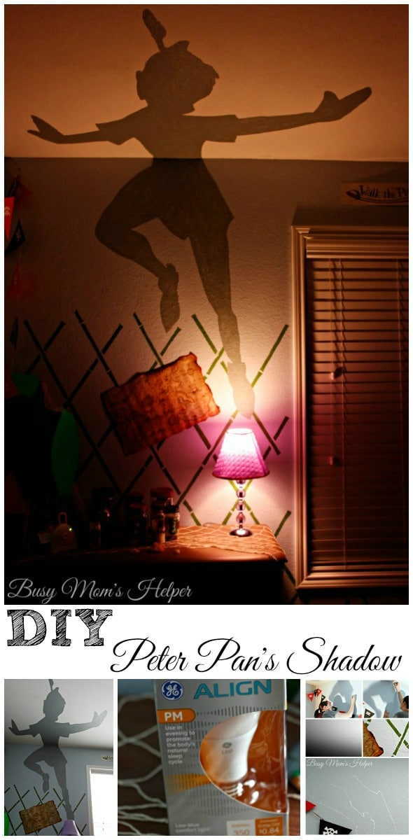 DIY Peter Pan's Shadow Nightlight