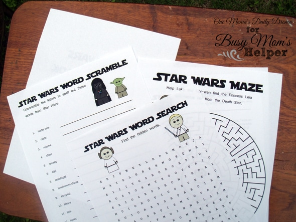 Star Wars Printable Activity Book - Busy Moms Helper