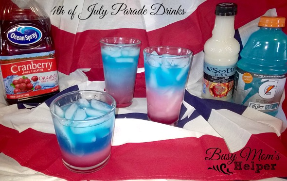 4th of July Layered Drinks by Nikki Christiansen for Busy Mom's Helper