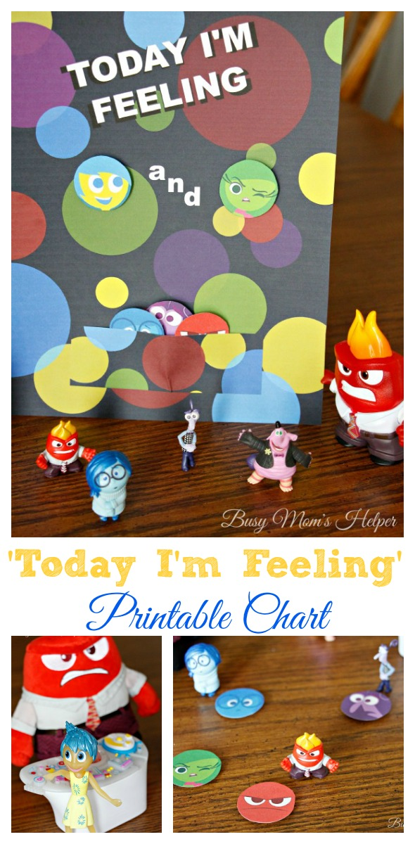 image relating to Emotions Chart Printable known as These days Im Opinion Printable Sensation Chart - Hectic Mothers Helper