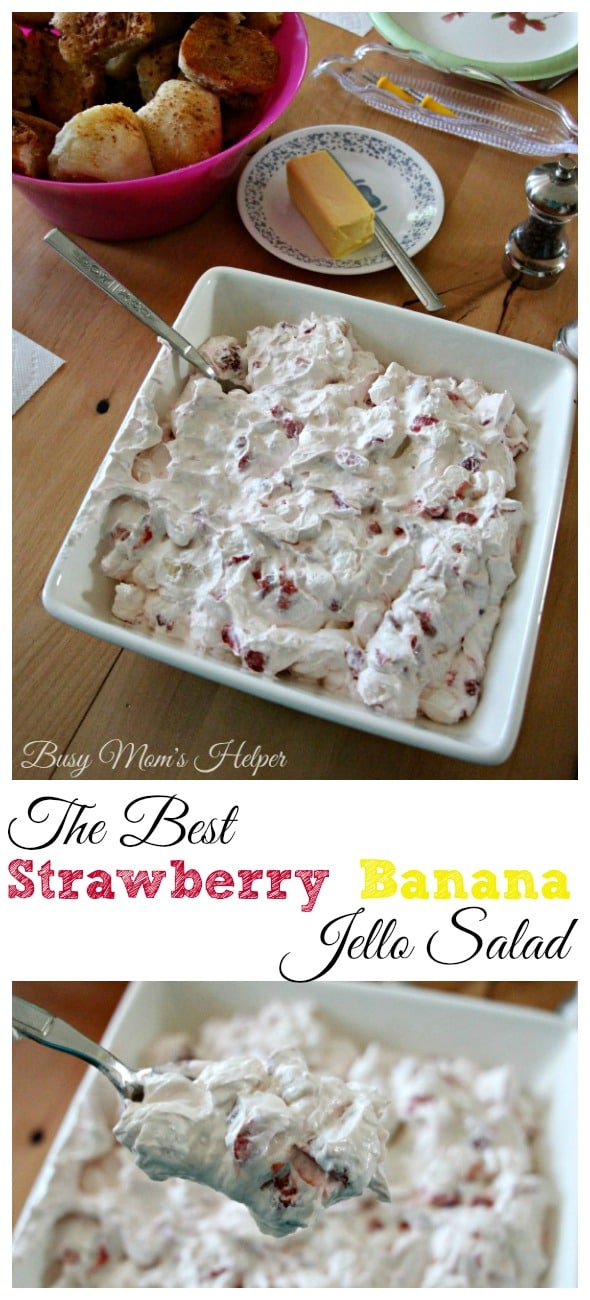The Best Strawberry Banana Jello Salad / by Busy Mom's Helper