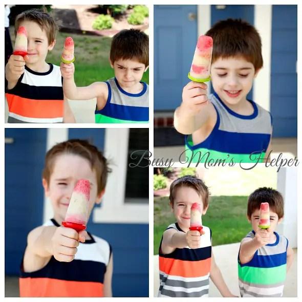 Homemade Fruit and Yogurt Popsicles / https://busymomshelper.com #HelloSummerFun #IC #ad