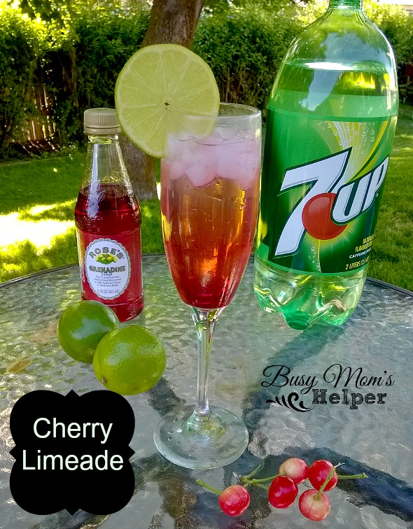 Cherry Limeade by Nikki Christiansen for Busy Mom's Helper