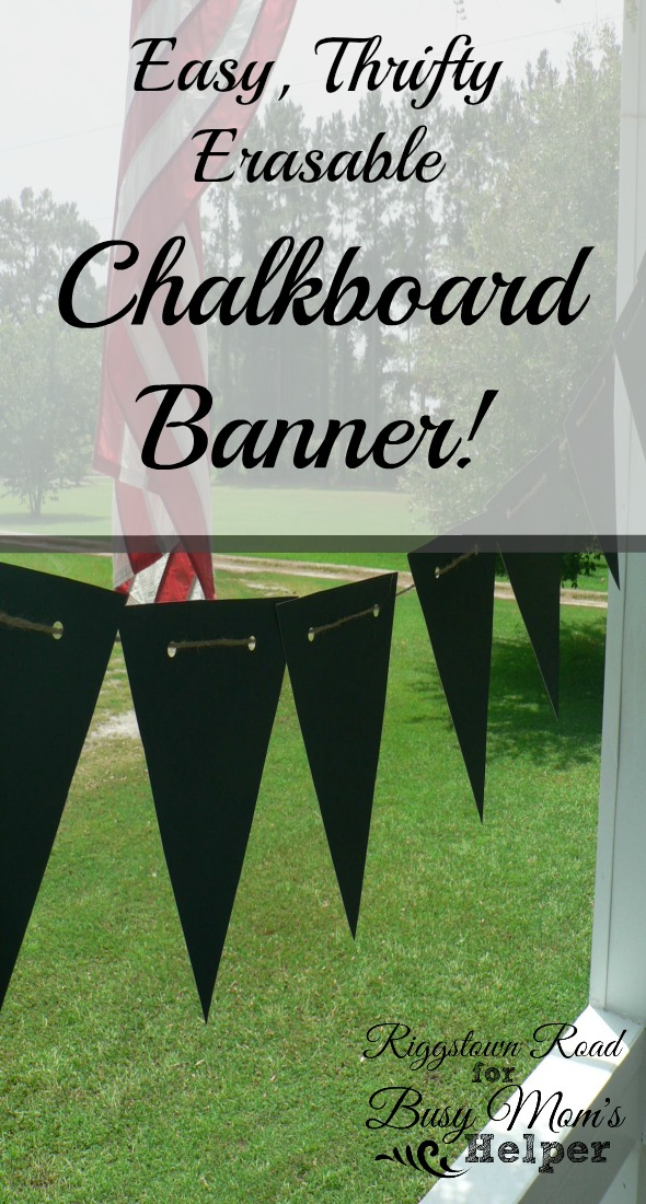 diy Chalkboard Banner by Riggstown Road for Busy Mom's Helper