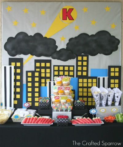 Superhero Birthday Party / by The Crafted Sparrow / Round up by Busy Mom's Helper