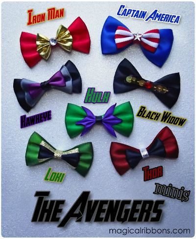Avenger Bows / by Magical Ribbons / Round Up by Busy Mom's Helper