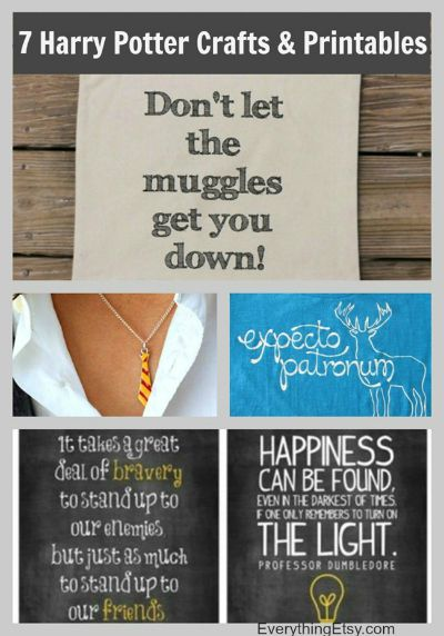 7 Harry Potter Craft Ideas & Printables / from Everything Etsy