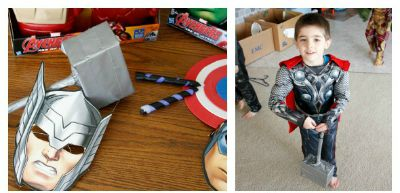 Make Your Own Avengers Weapons / by Busy Mom's Helper / Black Widow Batons / Thor Hammer / Captain America Shield