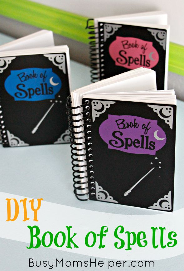 DIY Book of Spells / Harry Potter / Wizards / Magic / Halloween Craft Lightning / by Busy Mom's Helper