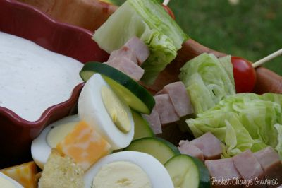 Chef Salad on a Stick / by Pocket Change Gourmet / Round up by Busy Mom's Helper