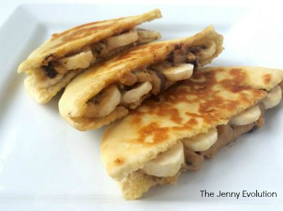 Chocolate Peanut Butter Banana Pita / by The Jenny Evolution / Round up by Busy Mom's Helper