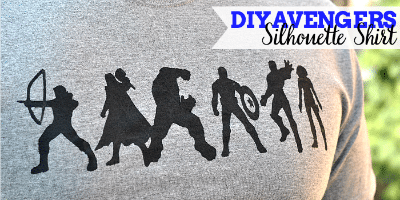 DIY Avengers Silhouette Shirt / by The Love Nerds / Round up by Busy Mom's Helper