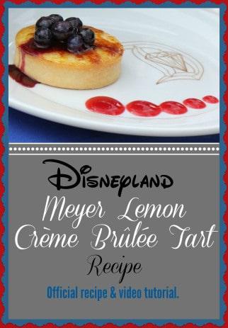 Disneyland Meyer Lemon Creme Brulee Tart / on Babes in Disneyland / Round up by Busy Mom's Helper