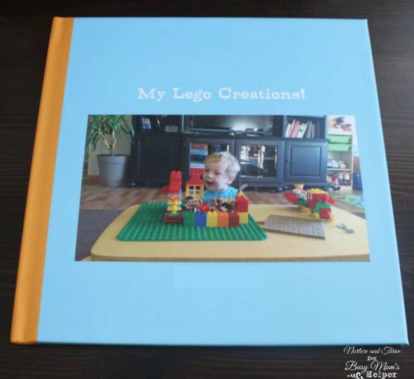 A cute project to save your child's creations! A Lego Creations photo Book. Great idea!