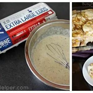Apple Fritter Breakfast Casserole / by Busy Mom's Helper #LonestarEggs #ad