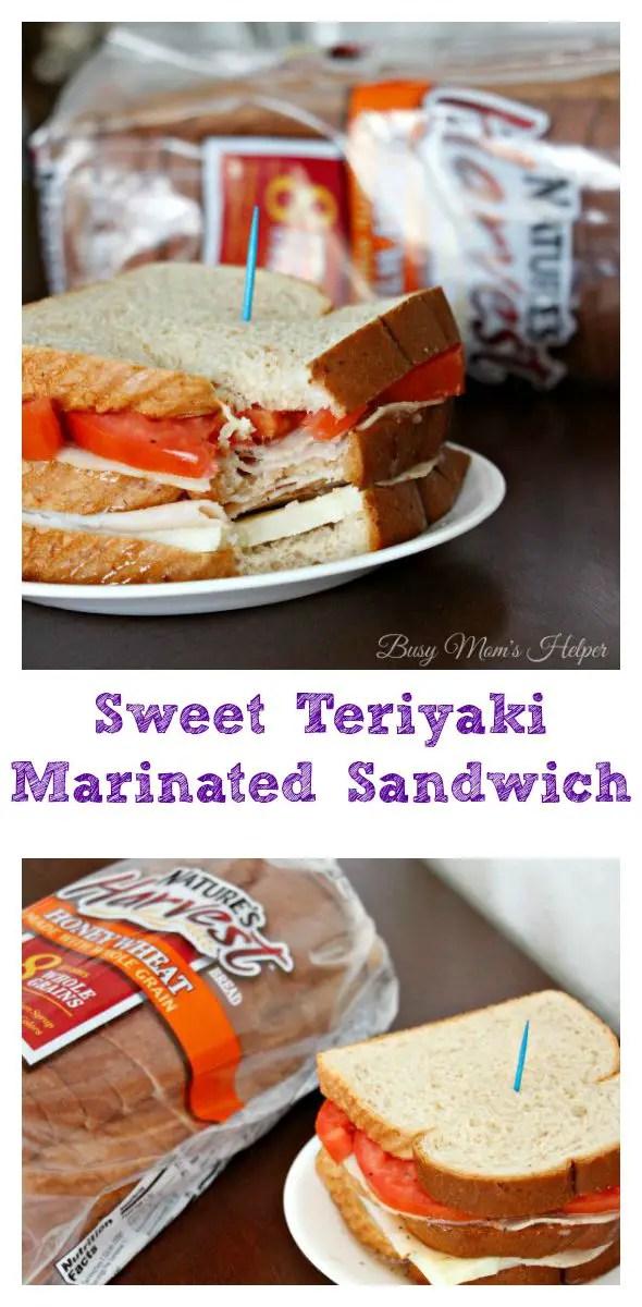 Sweet Teriyaki Marinated Sandwich / by Busy Mom's Helper #ad Nature's Harvest®Bread