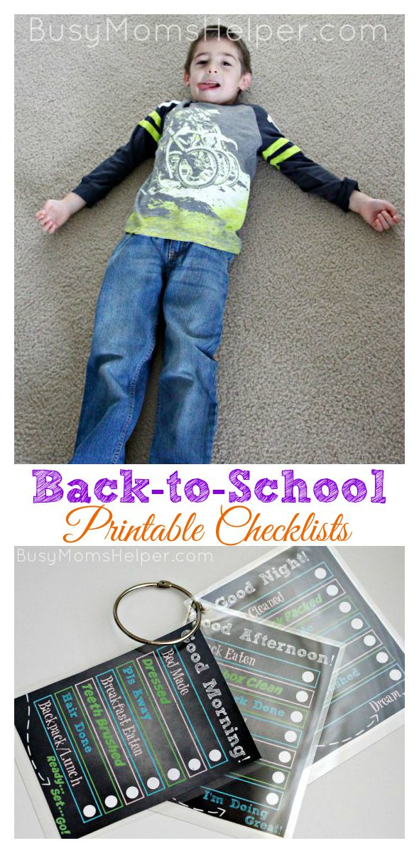 Back to School Printable Checklists / by Busy Mom's Helper #backtobgosh #bgoshjeanius #IC #ad