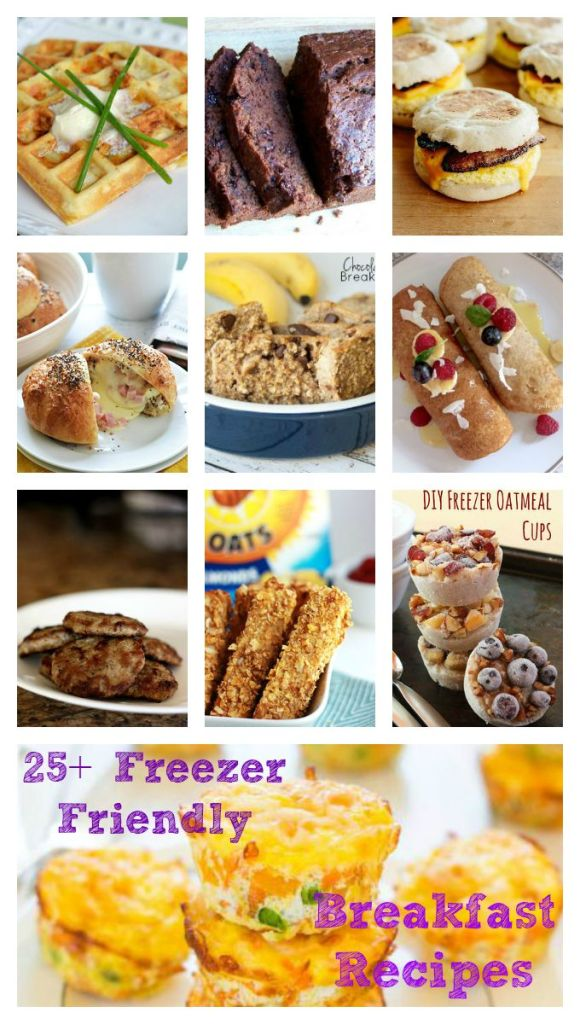 25+ Freezer Friendly Breakfast Recipes / Round up on Carrie Elle