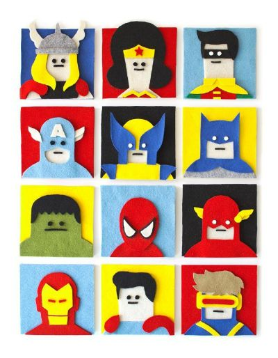 Felt Heroes / by Mashable / Round up by Busy Mom's Helper