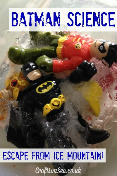 Batman Science: Escape from Ice Mountain / by Crafts on Sea / Round up by Busy Mom's Helper