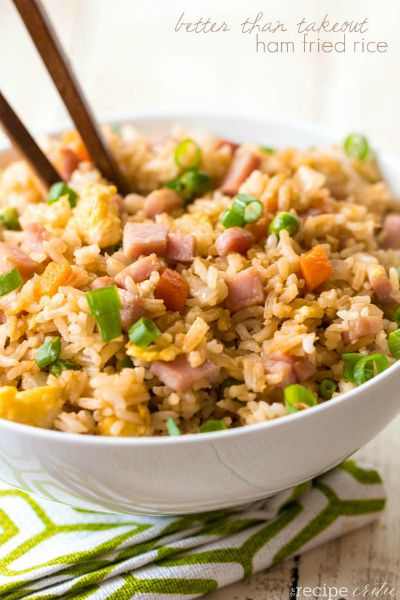 Ham Fried Rice / by The Recipe Critic / Round up by Busy Mom's Helper