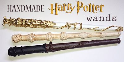 DIY Harry Potter Wands & List of Spells / by Bambinis / Round up by Busy Mom's Helper