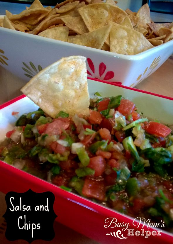 Fresh Salsa and Homemade Chips by Nikki Christiansen for Busy Mom's Helper