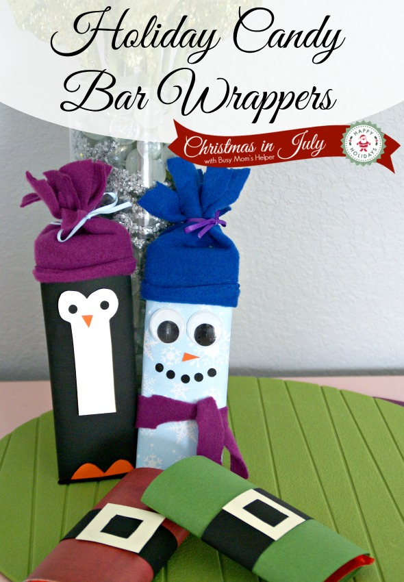 Holiday Candy Bar Wrapper with Free Printables / by BusyMomsHelper.com