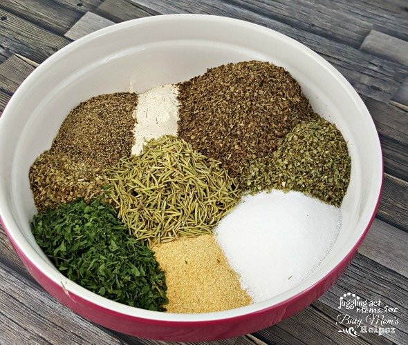 Make your own DIY Italian Garlic & Herb Seasoning for a fraction of the cost of a store-bought blend. It's great to have in your pantry, and makes a lovely gift, too!