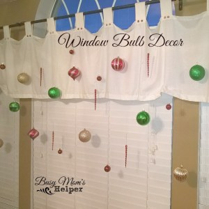 Holiday Window Decor by Nikki Christiansen for Busy Mom's Helper