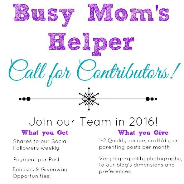 Join the Busy Mom's Helper 2016 Team! www.busymomshelper.com