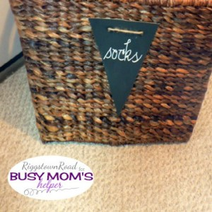 The Sock Basket by Riggstown Road for Busy Mom's Helper