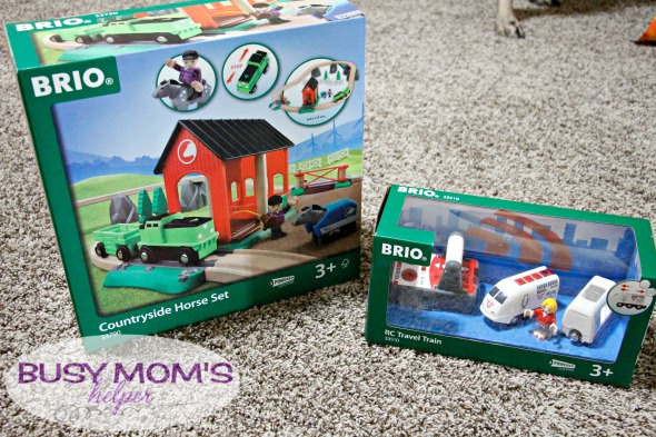 Brio Remote control Travel Train & Countryside Horse Set / review by BusyMomsHelper.com #ad