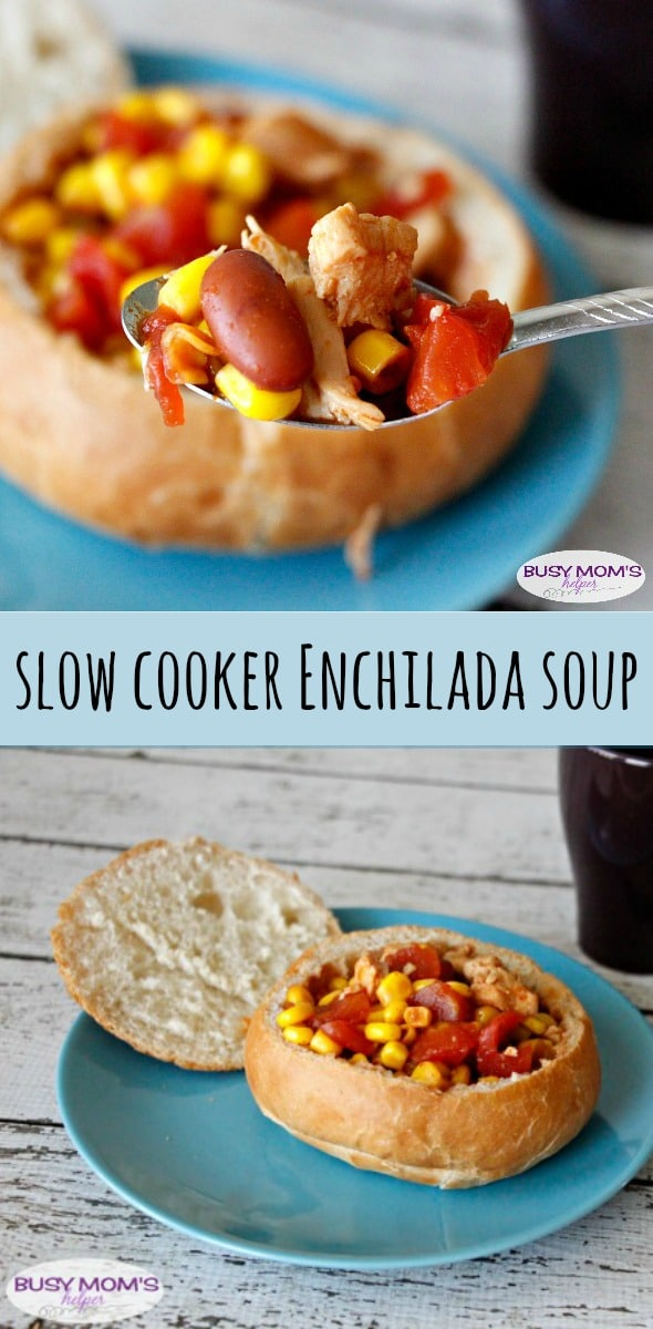 Slow Cooker Enchilada Soup / by BusyMomsHelper.com #YesYouCan #ad