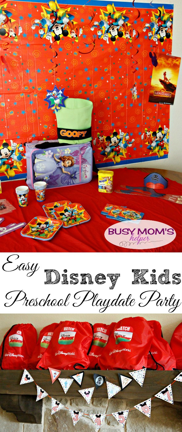 Easy Disney Kids Playdate Party / Walt Disney World Party / Disney themed playdate / by BusyMomsHelper.com #DisneyKids @DisneyMoms @DisneyWorld #spons