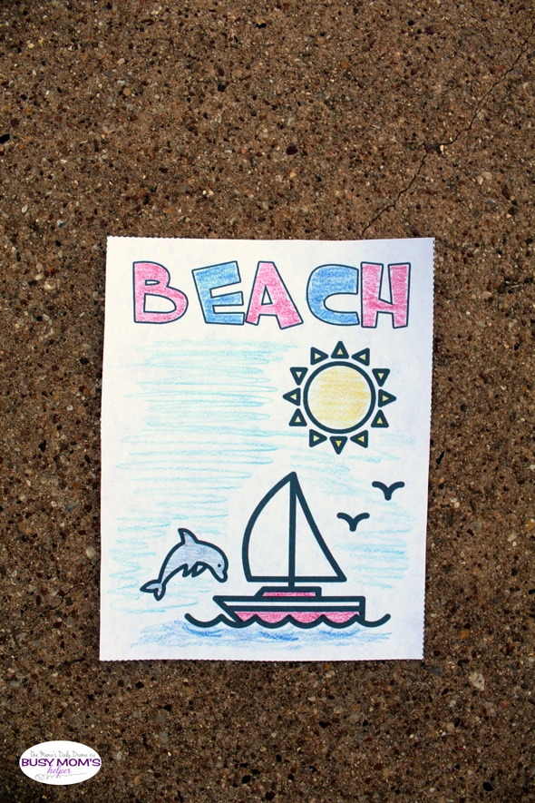 Printable spring break vacation coloring pages | One Mama's Daily Drama for Busy Mom's Helper