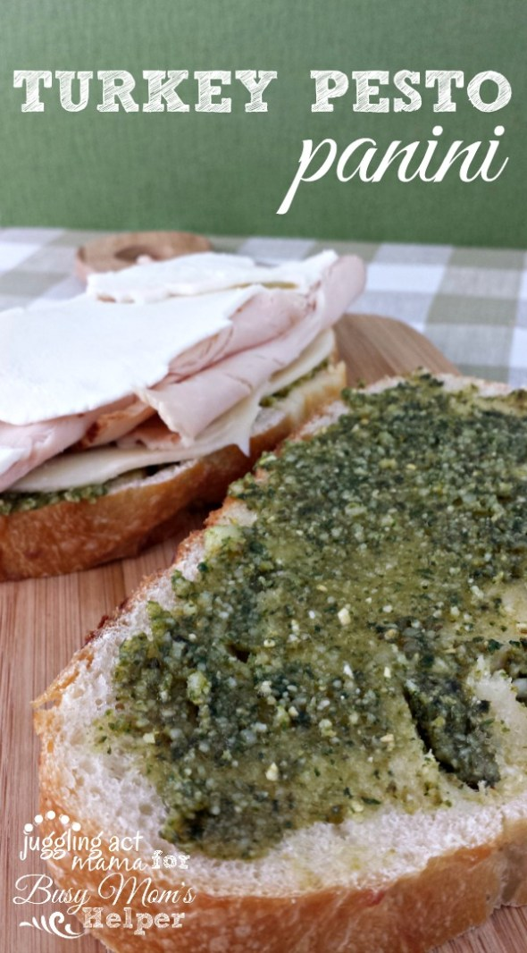 Homemade Basil Pesto gives this Turkey Pesto Panini big flavor